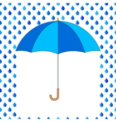 Umbrella and drops vector