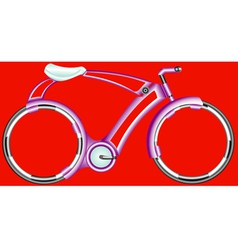 Futurist bicycle vector