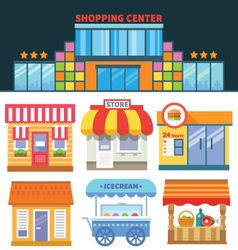 Shops and trade vector image
