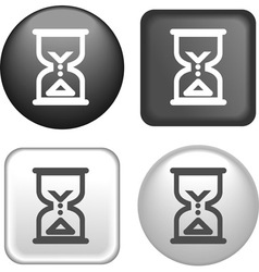 Button hourglass vector