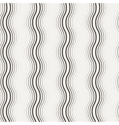 Seamless pattern of curved lines vector