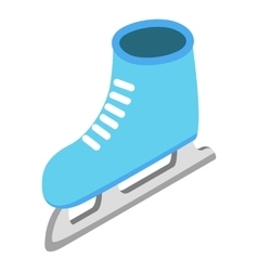 Skates isometric 3d icon vector