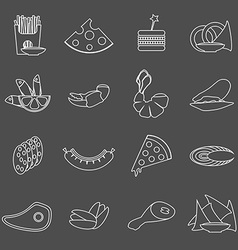 Black and white beer snacks vector