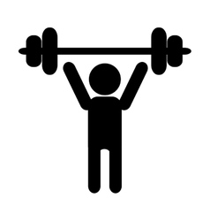 Person lifting icon vector