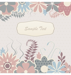 Scrapbook flowers vector image
