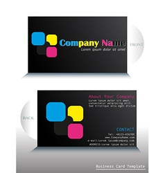 A card with a colorful fontstyle vector