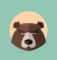 Bear grizzly head graphic logo vector