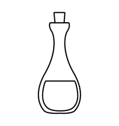 Bottle of glass icon Jar design graphic vector image