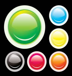 button lip vector image