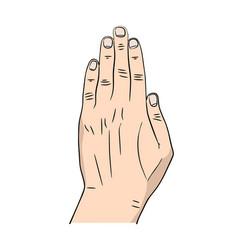 cartoon hand icon vector image vector image