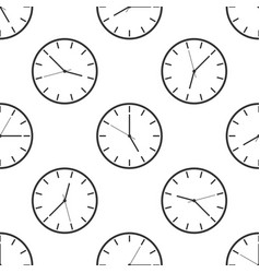 clock icon seamless pattern vector image vector image