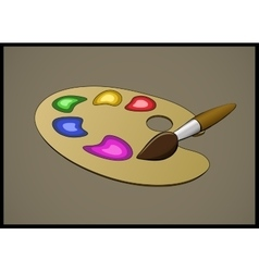 Color pallete and brush vector