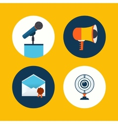 conference icons in flat style vector image