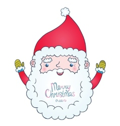 Cute cartoon santa claus vector