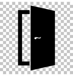 Door sign flat style black icon on vector