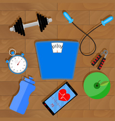 Fitness lifestyle vector