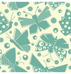 flying butterflies seamless pattern vector image vector image