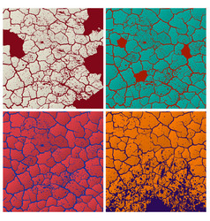 Four cracks pattern set vector