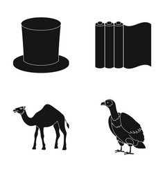 Hat roll of paper and other web icon in black vector