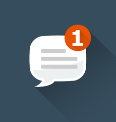 Incoming message notification icon vector image vector image