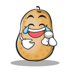 Joy potato character cartoon style vector