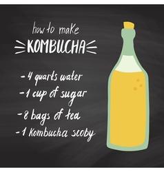kombucha recipe vector image vector image