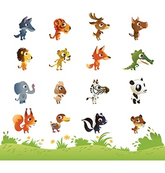 Large collection of cartoon animals vector