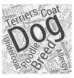 List of hypoallergenic dogs word cloud concept vector