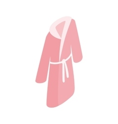 Pink bathrobe icon isometric 3d style vector image