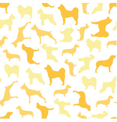 Seamless pattern of color dogs vector
