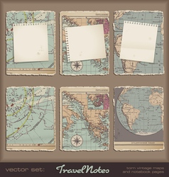 travel notes vector image vector image
