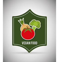 vegan food vector image