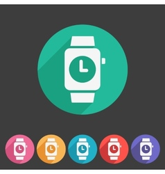 Watch icon sign symbol logo label set vector