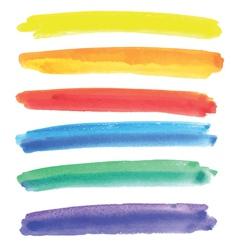 Watercolor multicolored stripes vector