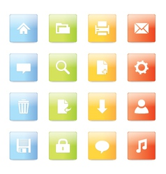 Web icons 5 vector image vector image