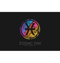 zodiac fish logo Fish symbol logo Creative logo vector image