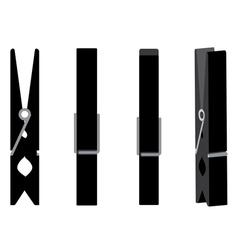 Wooden clothespin set2 vector