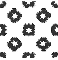 Police badge icon seamless pattern vector