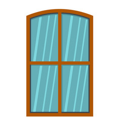wooden brown window icon isolated vector image