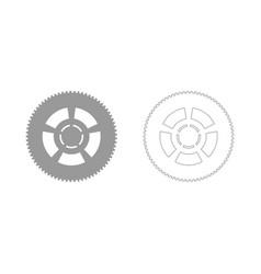 car wheel the grey set icon vector image