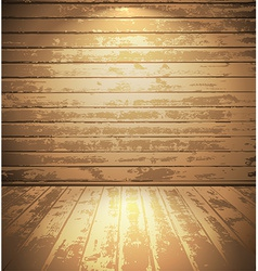Light wooden room vector