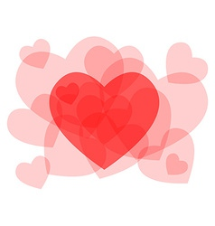Transparent heart symbols card vector
