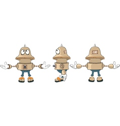Cartoon character cute robot for a computer game vector