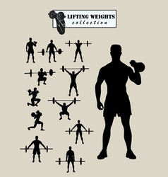 Weight lifting silhouette vector