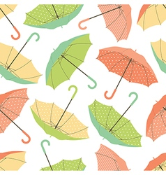 Umbrellas seamless pattern vector image
