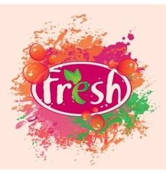 Banner for fresh juices vector
