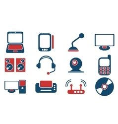 Media simply symbols for web icons vector
