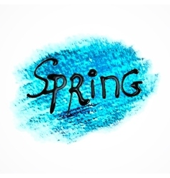 Blue pastel art spring background vector