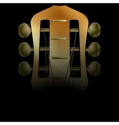 Acoustic neck guitar close-up vector