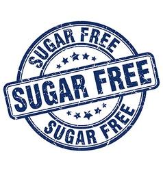 Sugar free blue grunge round vintage rubber stamp vector